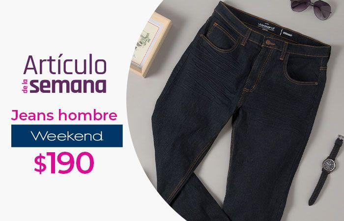 Suburbia: Artículo de la Semana del Lunes 15 al Domingo 21 de Febrero: Jeans Weekend para hombre $190