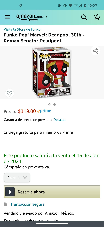 Amazon: Funko Pop! Marvel: Deadpool 30th - Roman Senator Deadpool