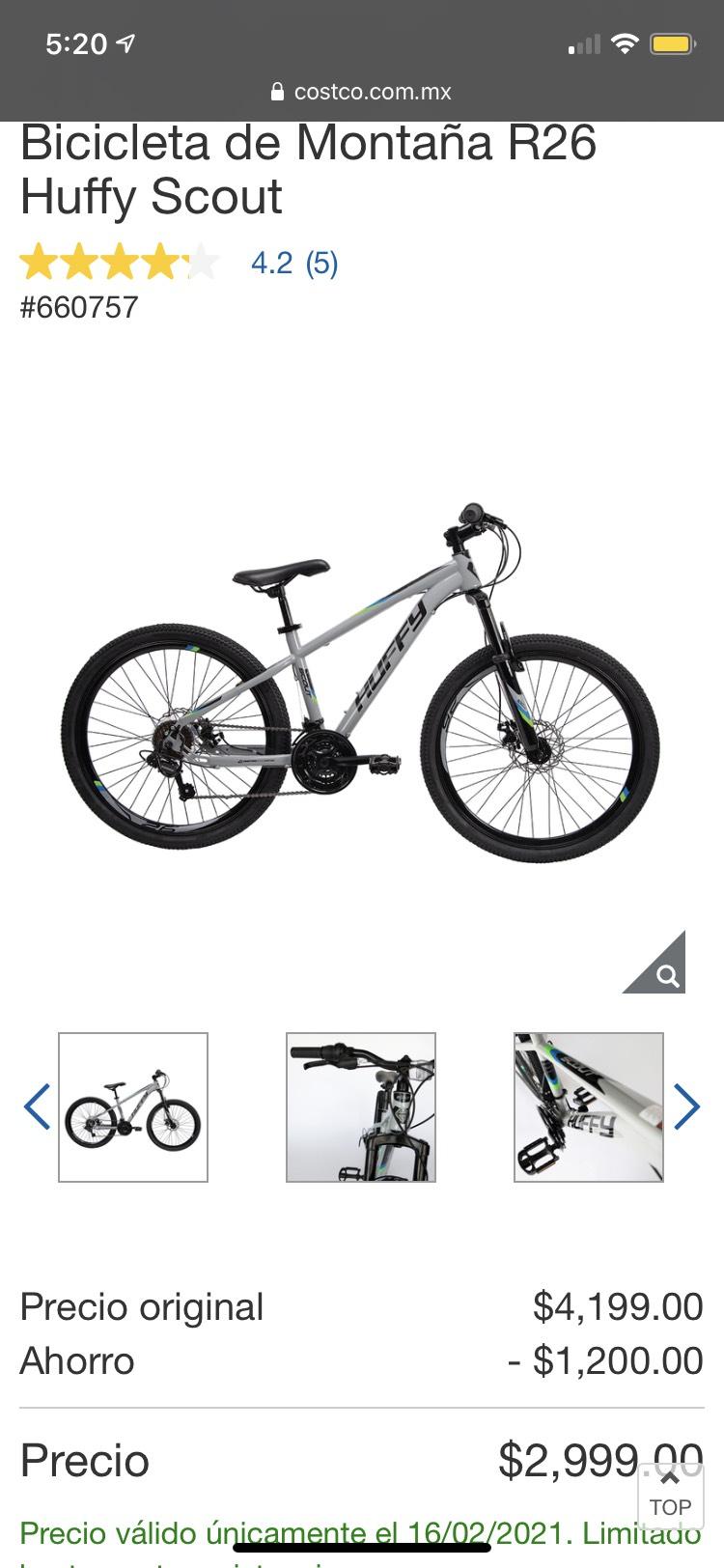 Costco, Bicicleta de Montaña R26 Huffy Scout