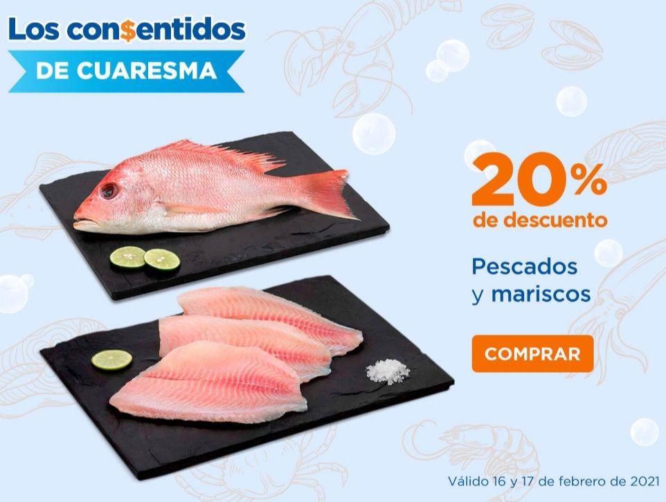 Chedraui: 20% de descuento en todo el departamento de pescados y mariscos