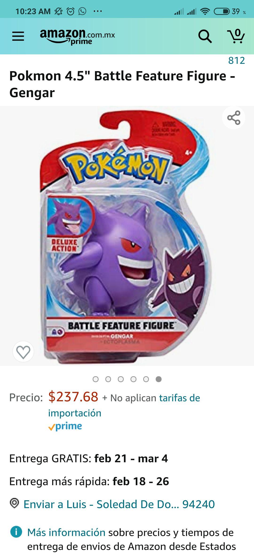 "Amazon Pokmon 4.5"" Battle Feature Figure - Gengar"