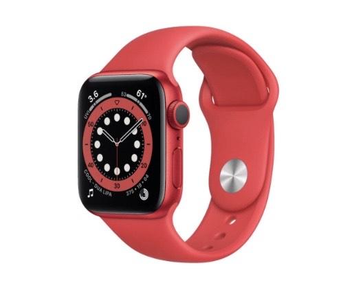 Best Buy Apple Watch Series 6 (GPS) Caja de aluminio roja de 40 mm con correa deportiva roja - Rojo