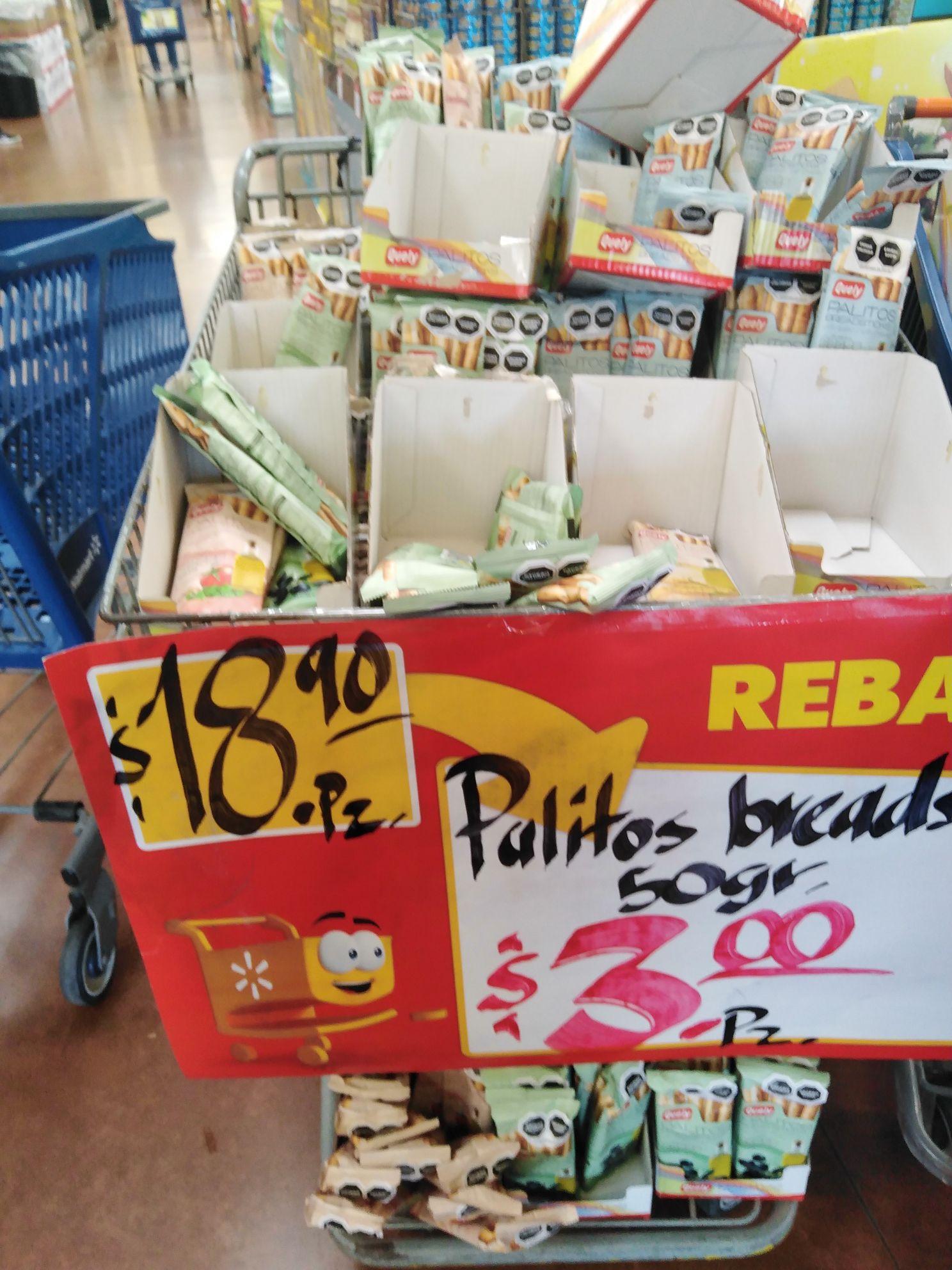 Walmart Mazatlán: palitos de pan variedad sabor