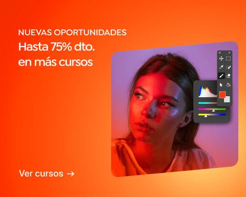 Domestika tiene en descuento sus cursos hasta 75%. Además 10% de descuento con cupón