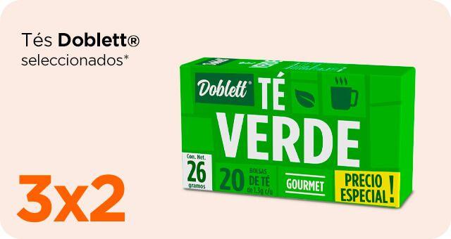 Chedraui: 3 x 2 en tés Doblett seleccionados