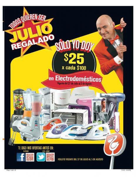 Folleto Julio Regalado 27/07: 3x2 en cométicos y galletas, bonificación en electrodomésticos y más