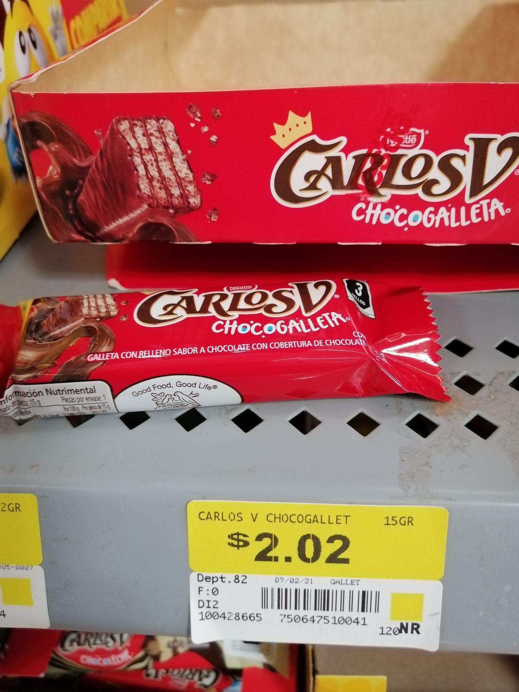 Walmart: Chocogalleta Carlos V en liquidación.