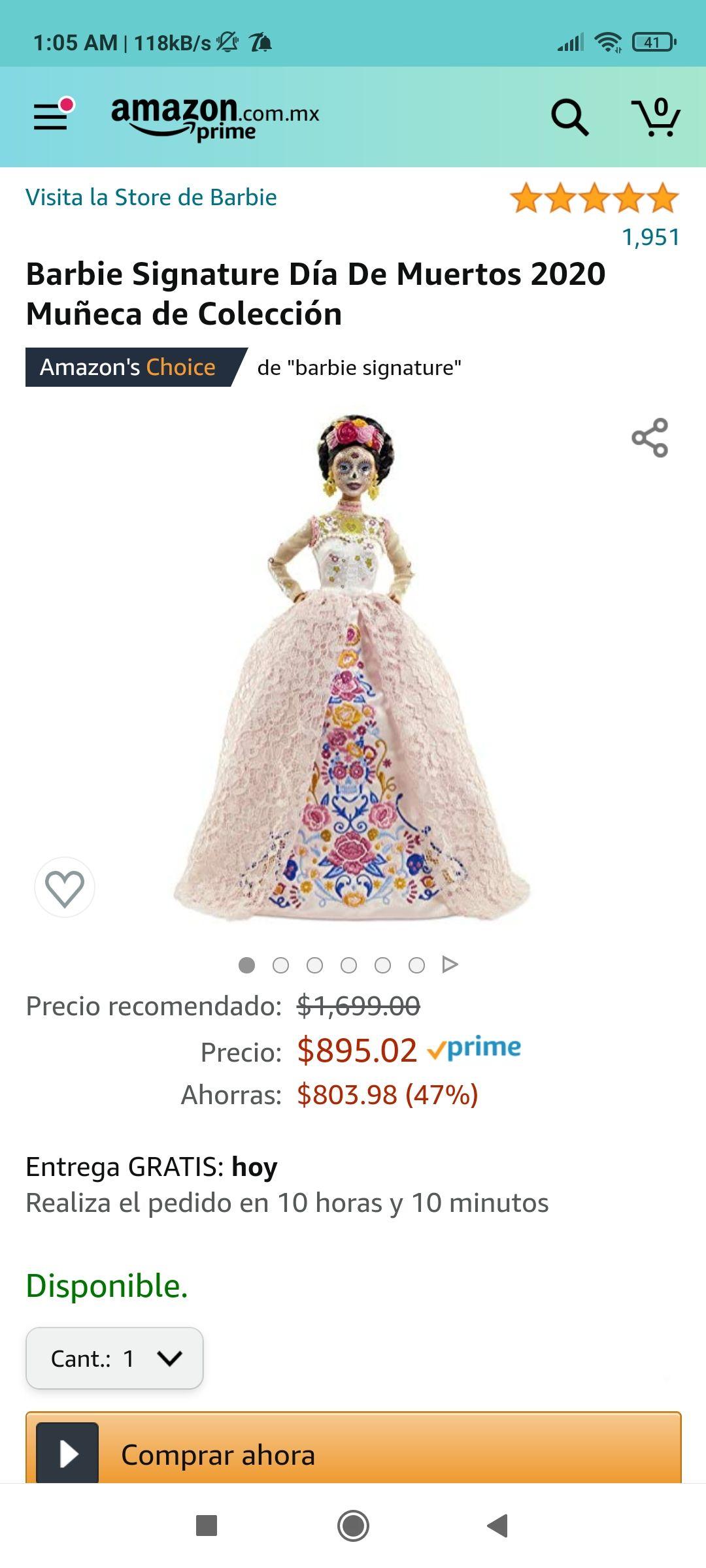 Amazon: Barbie Catrina Día de muertos 2020 ️