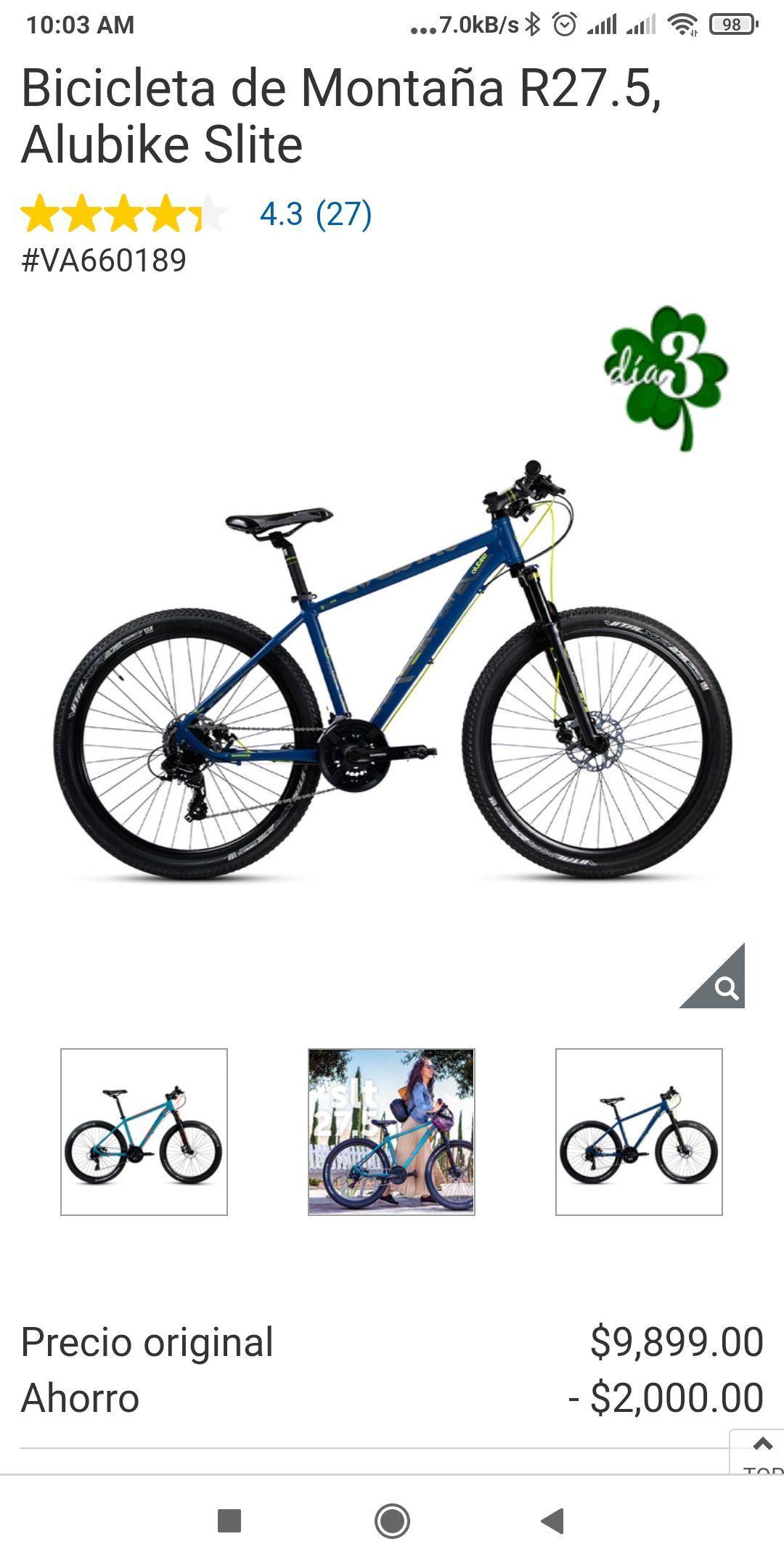 Costco Bicicleta de Montaña R27.5, Alubike Slite