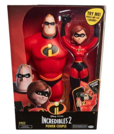 Walmart Set de Figuras Los Increíbles 2 Power Couple 12 Pulgadas envío gratis