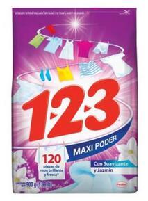 Walmart Detergente en polvo 1 2 3 maxi poder $14.50