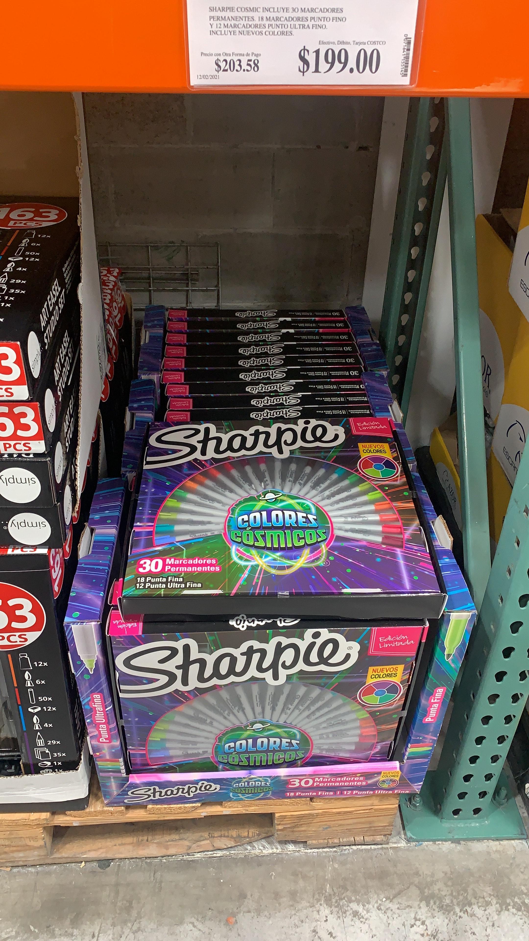 Costco Sharpie, Marcadores Permanentes 30 Piezas. Costco Xalapa Ver.