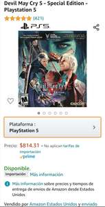 Amazon: Devil May Cry 5 special edition para PS5