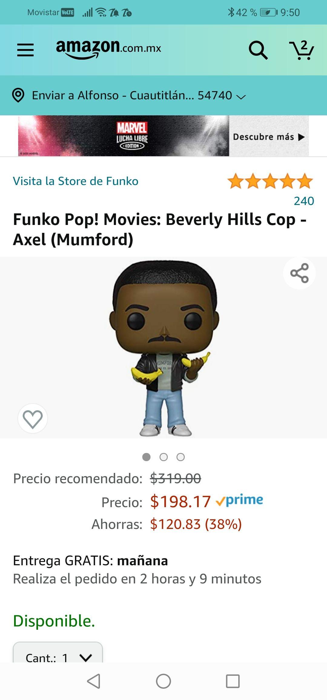 Amazon: Funko Pop! Movies: Beverly Hills Cop - Axel (Mumford)