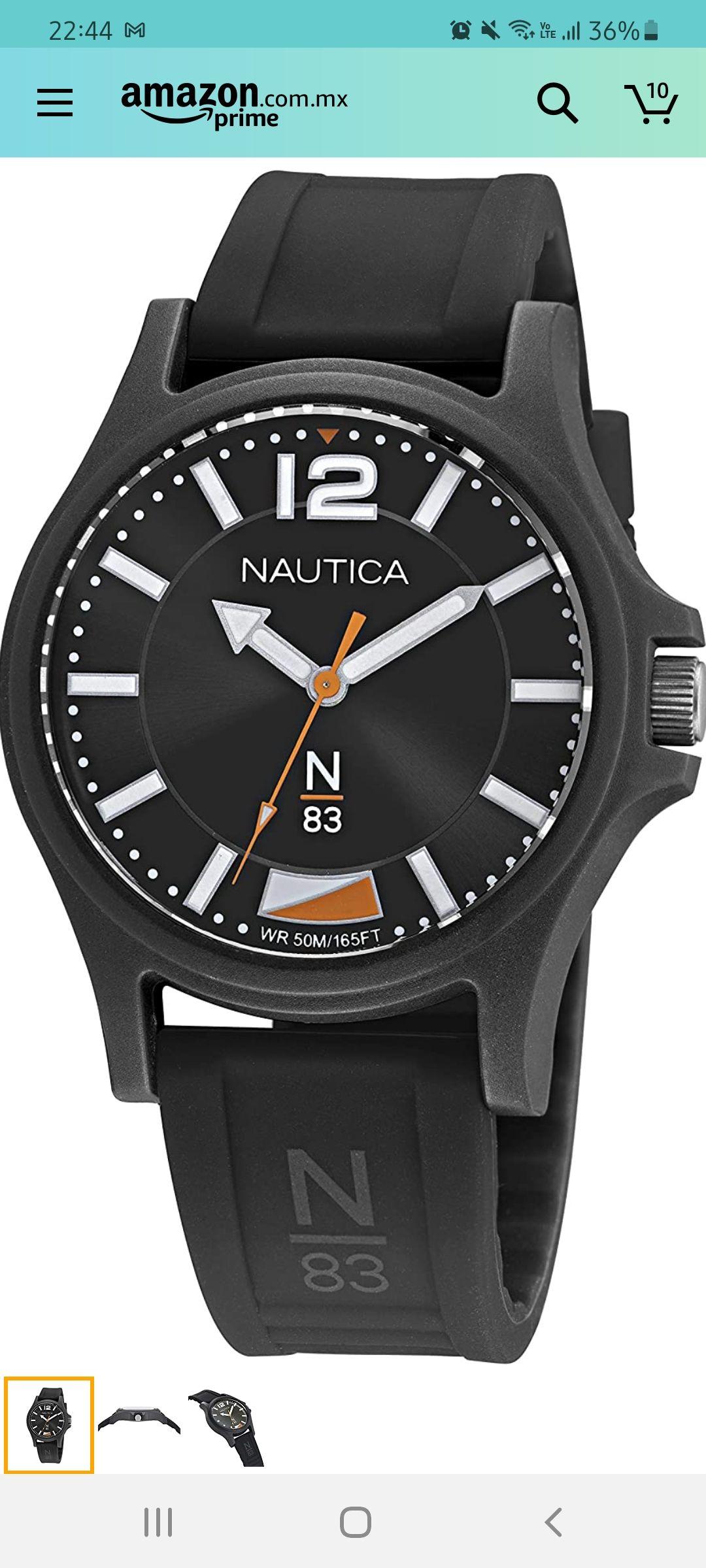 Amazon: Reloj Nautica colo Negro