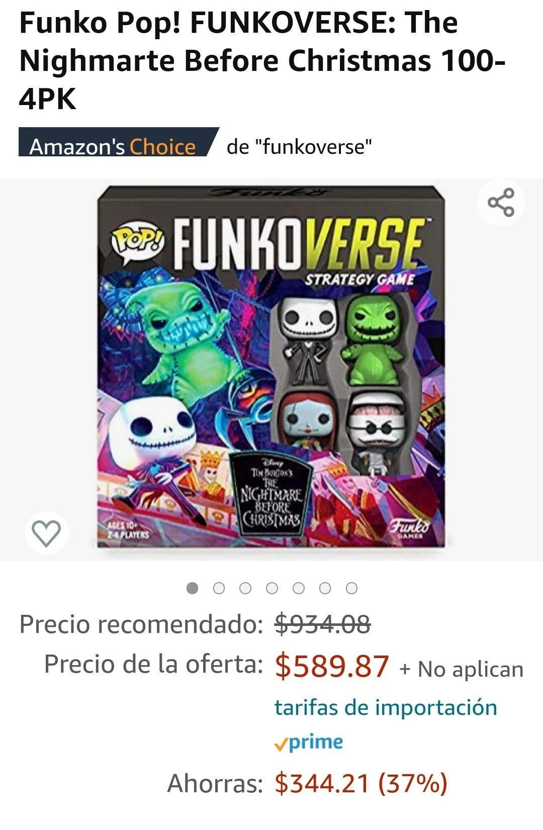 Amazon: Juego funko the nightmare before christmas (Jack)
