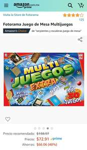 Amazon Multijuegos extra