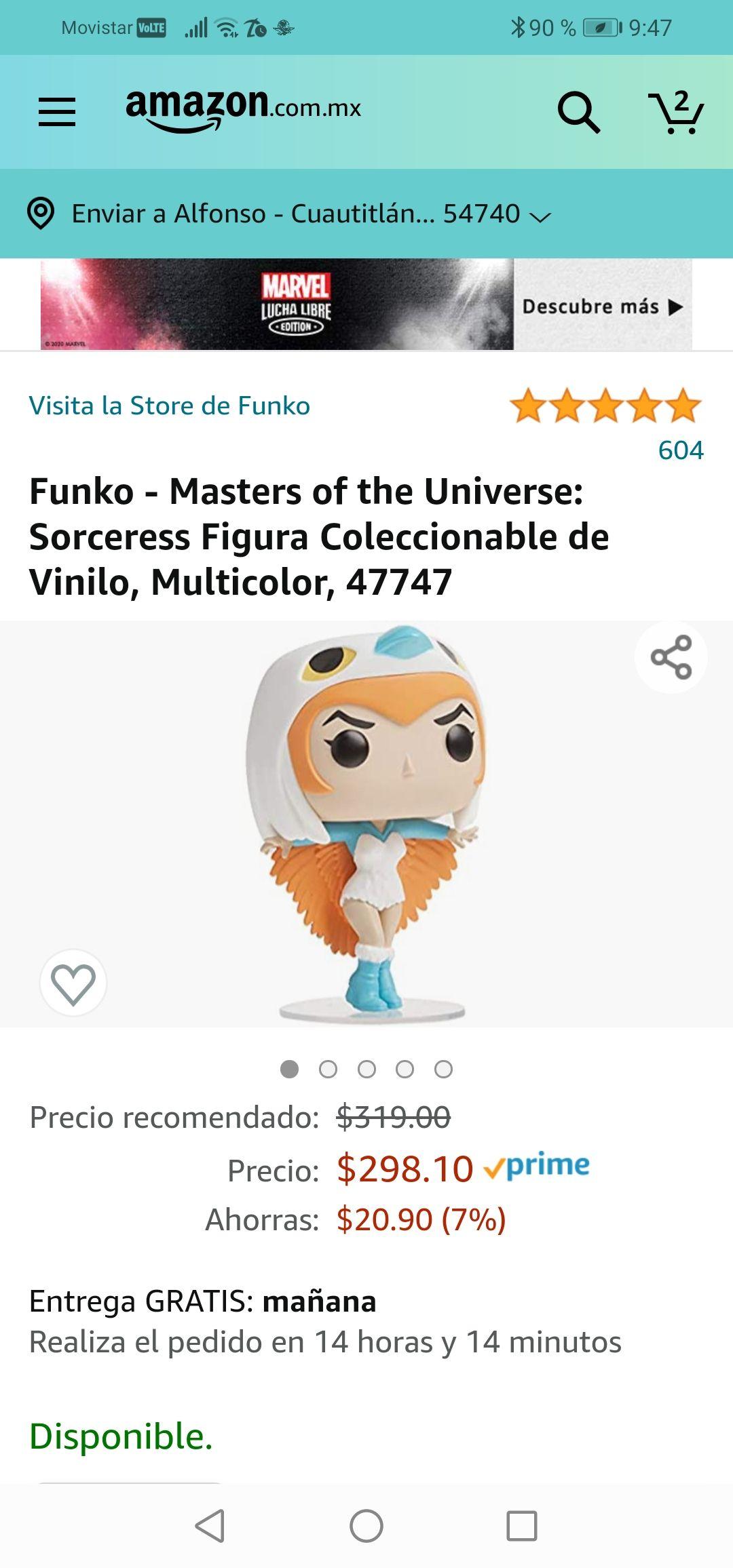 Amazon :Funko - Masters of the Universe: Sorceress Figura Coleccionable