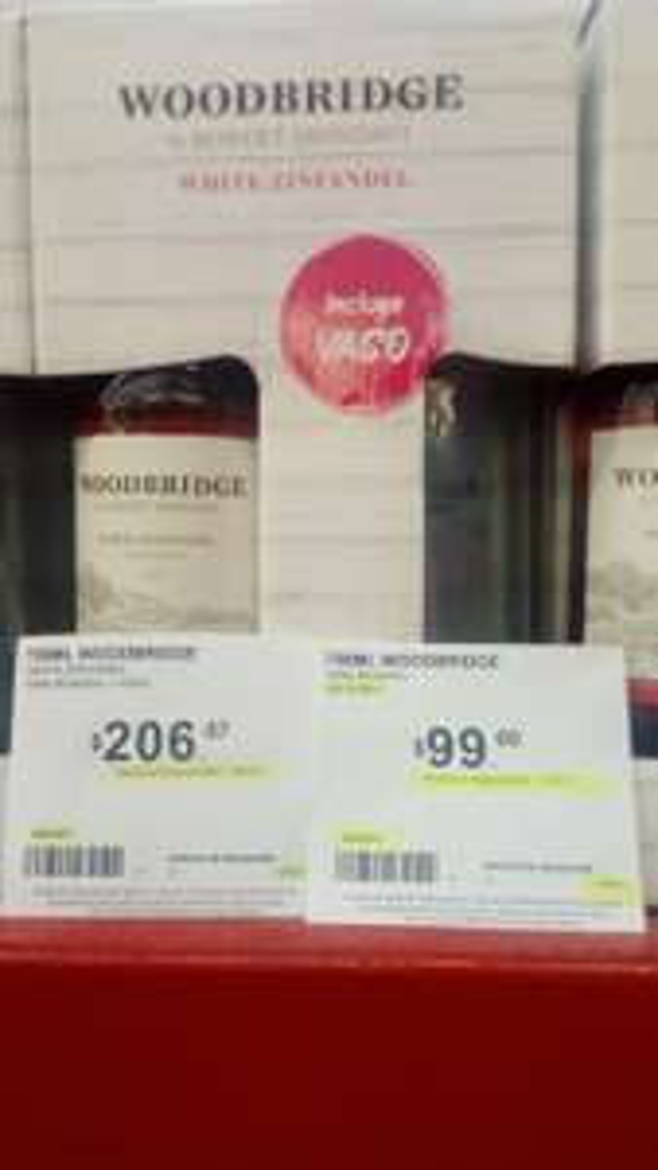 Sam's Club: vino rosado woodbridge liquidacion