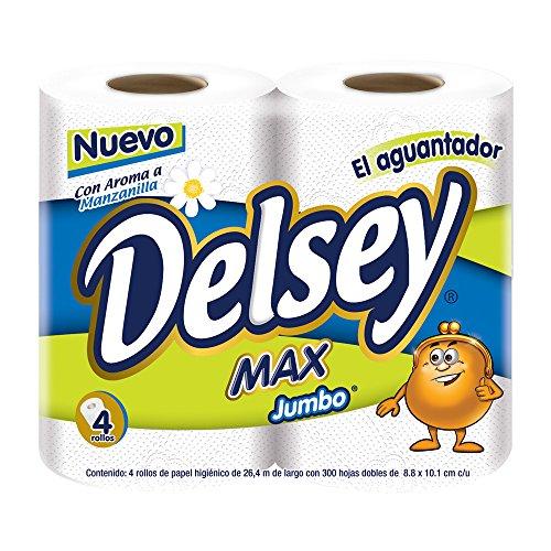 Amazon: Papel higiénico Delsey Max 4 rollos 300 hojas