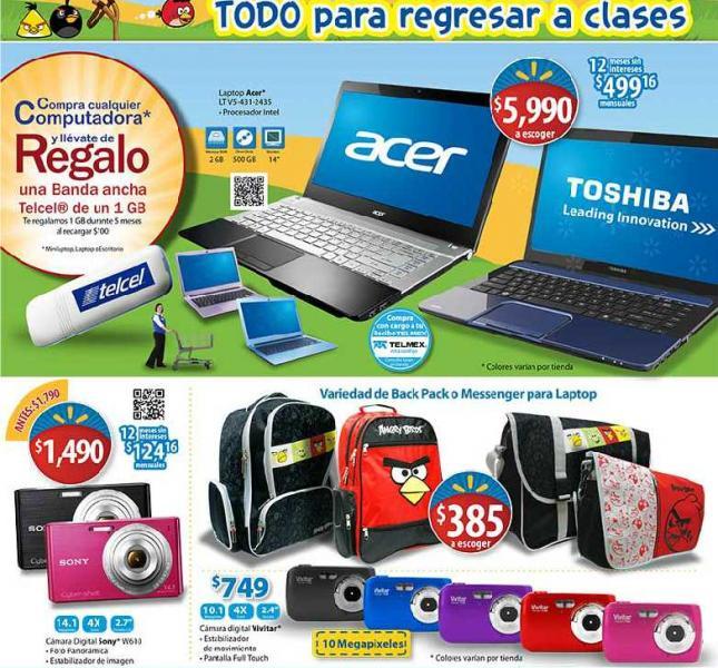 Folleto Walmart julio 26: ofertas en laptops, pantallas, alimento para perro y más