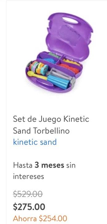 Walmart: Kinetic sand Arena para niños