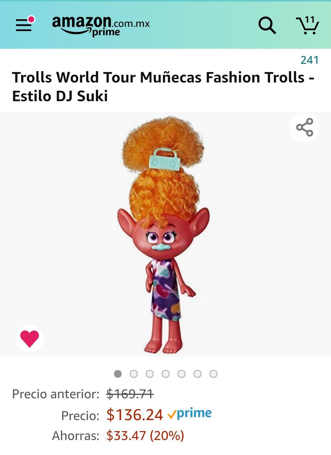 Amazon: Trolls world tour fashion estilo Dj suki