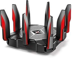 Amazon: TP-Link AC5400 Tri Band Gaming Router - Anti-Virus, MU-MIMO, CPU Quad-Core de 64 GHz a 1.8 GHz, Funciona con Alexa