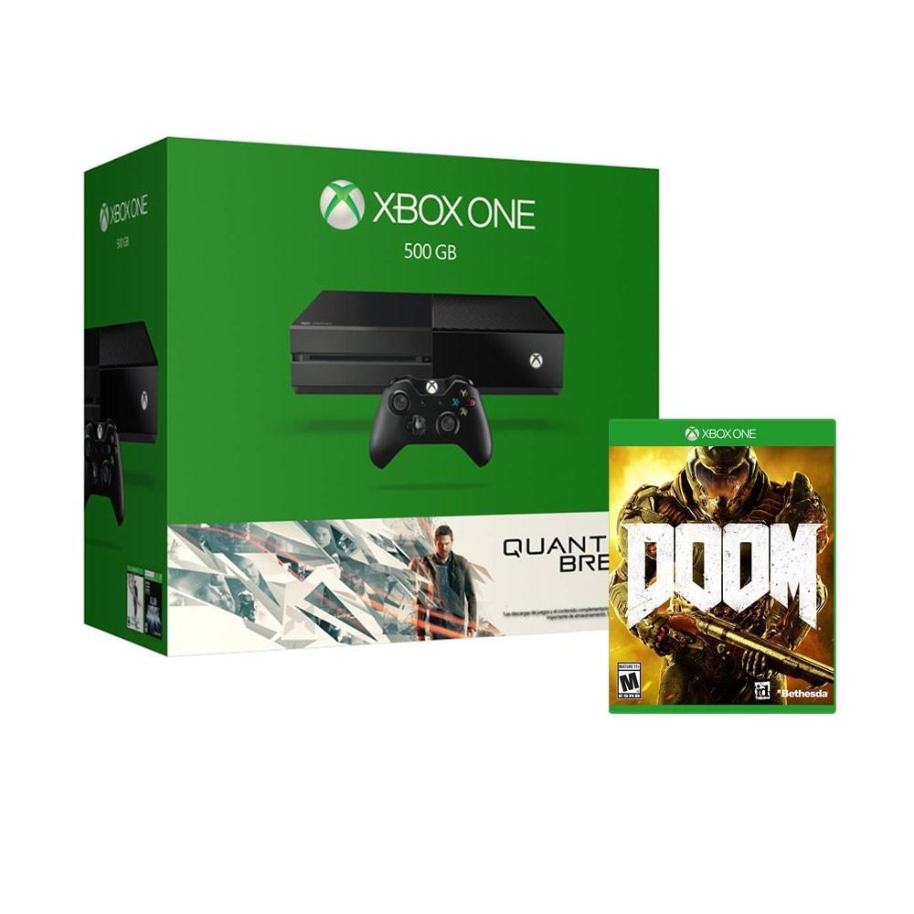 Walmart en línea: Xbox One 500GB + Quantum Break, Alan Wake y Doom (arma tu paquete)