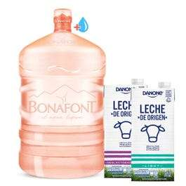 Bonafont: Envase + agua + leches