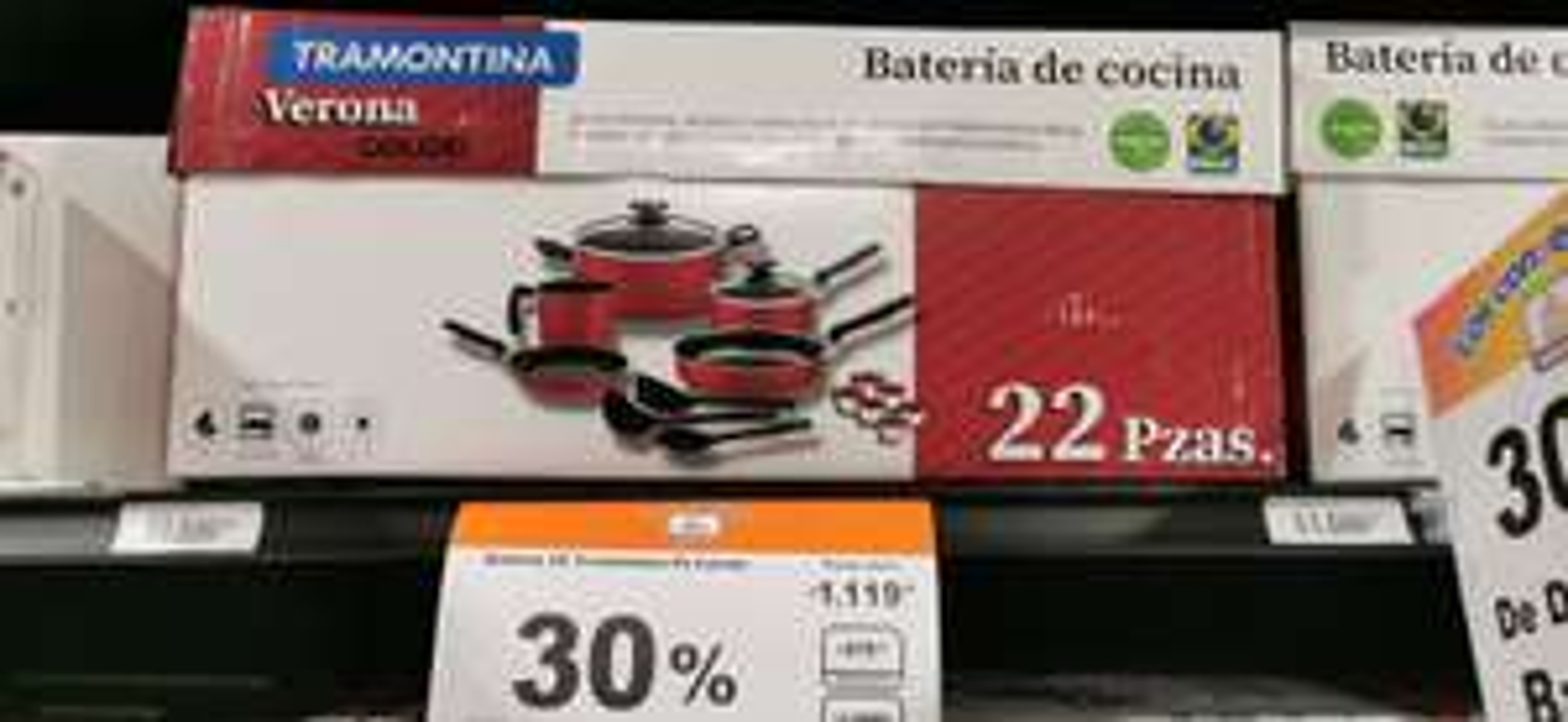 Chedraui: Batería de cocina 22 pz Tramontina Loreto con 30% de descuento