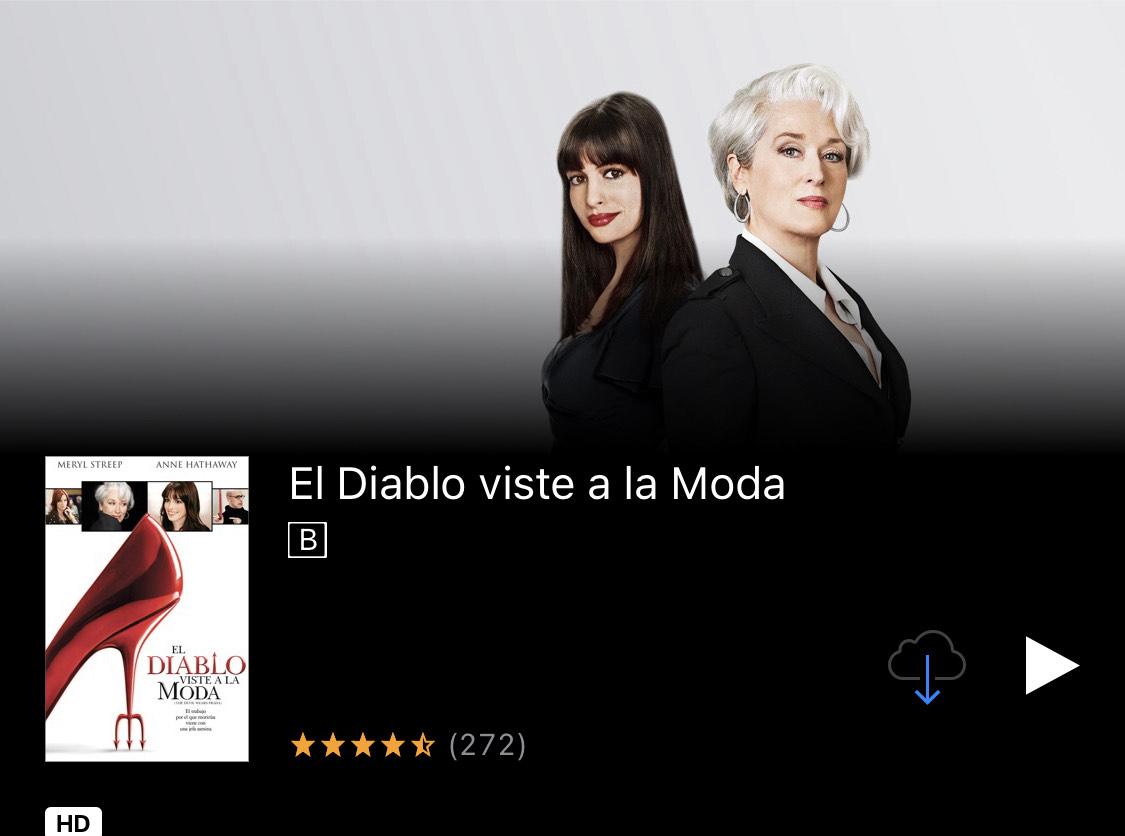 iTunes: El diablo viste a la moda (HD)