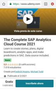 Udemy: The Complete SAP Analytics Cloud Course 2021