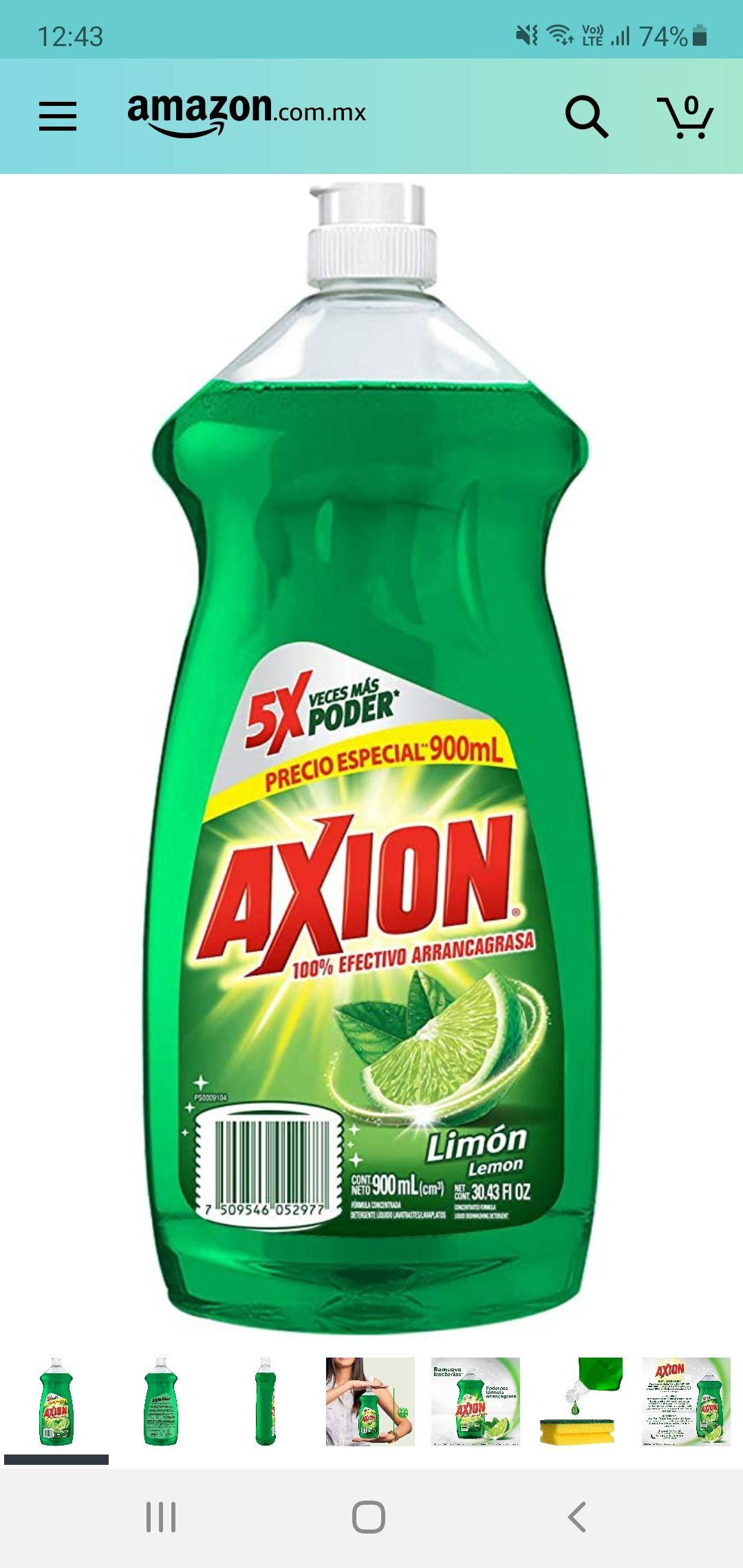 Amazon axion detergente liquido limón 900ml ( con planea y ahorra )