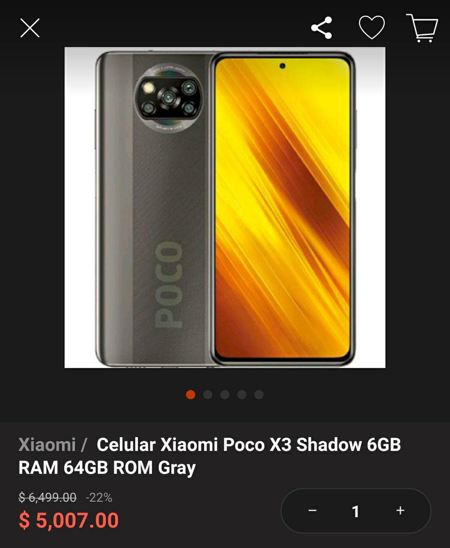 Linio: Xiaomi Poco X3 6GB RAM 64GB