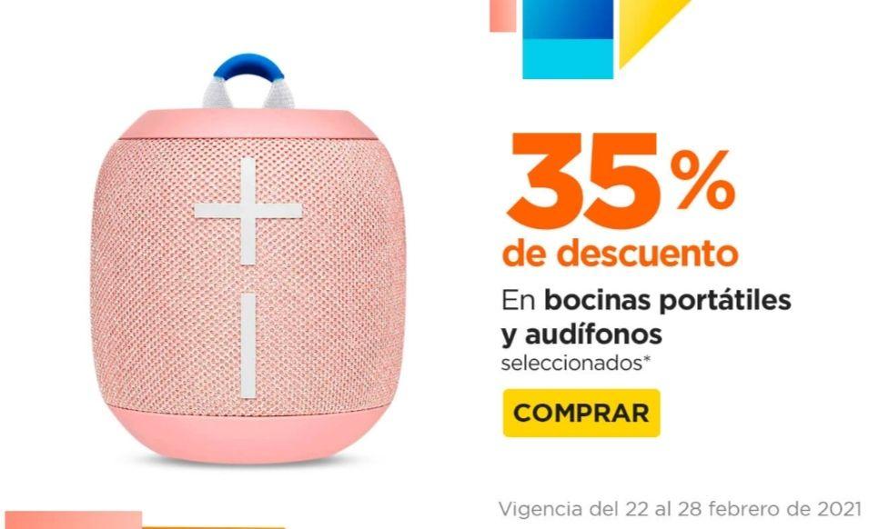 Chedraui: 35% de descuento en bocinas portátiles y audífonos seleccionados