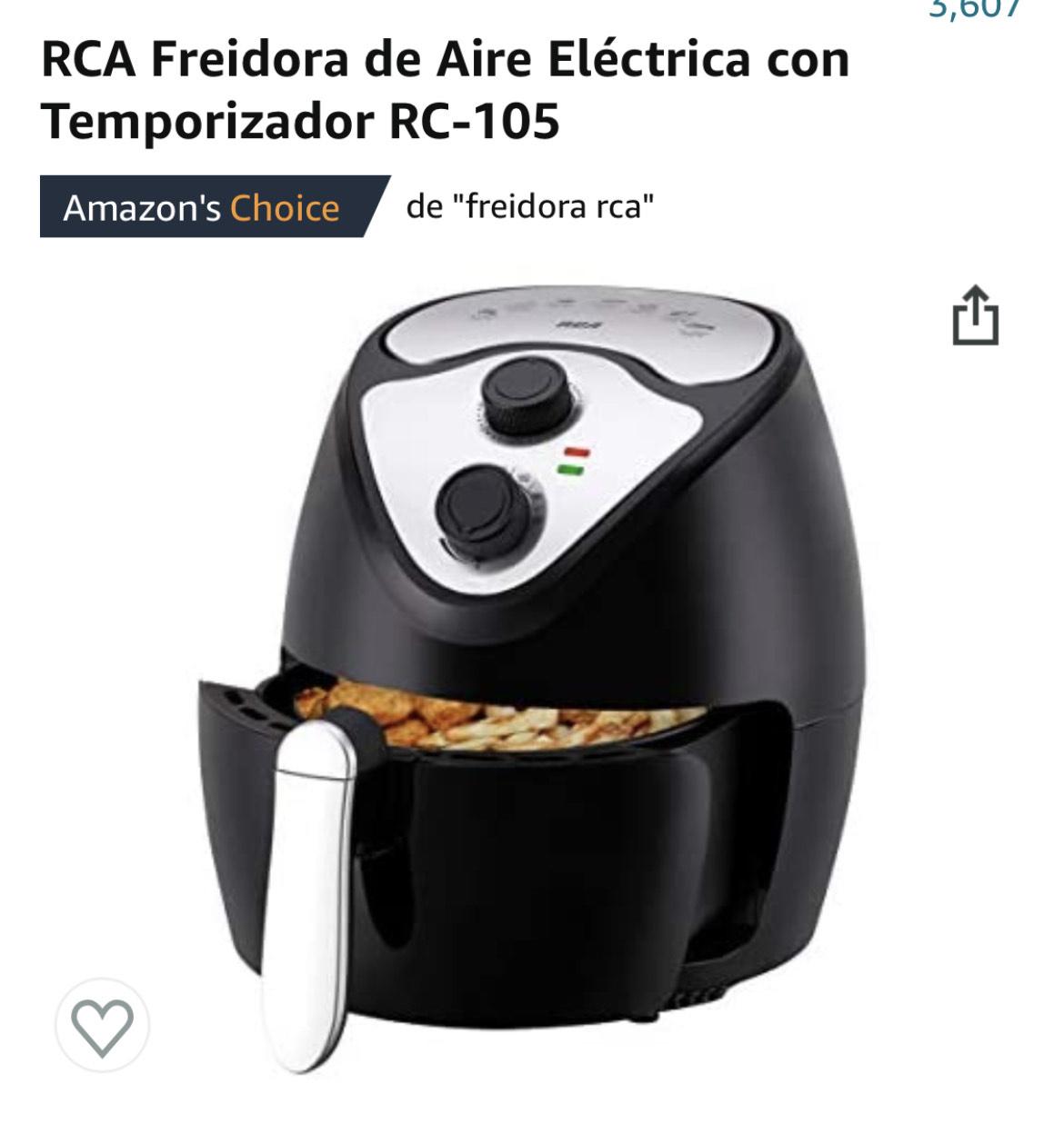 Amazon: RCA Freidora de Aire Eléctrica precio bajo según keppa