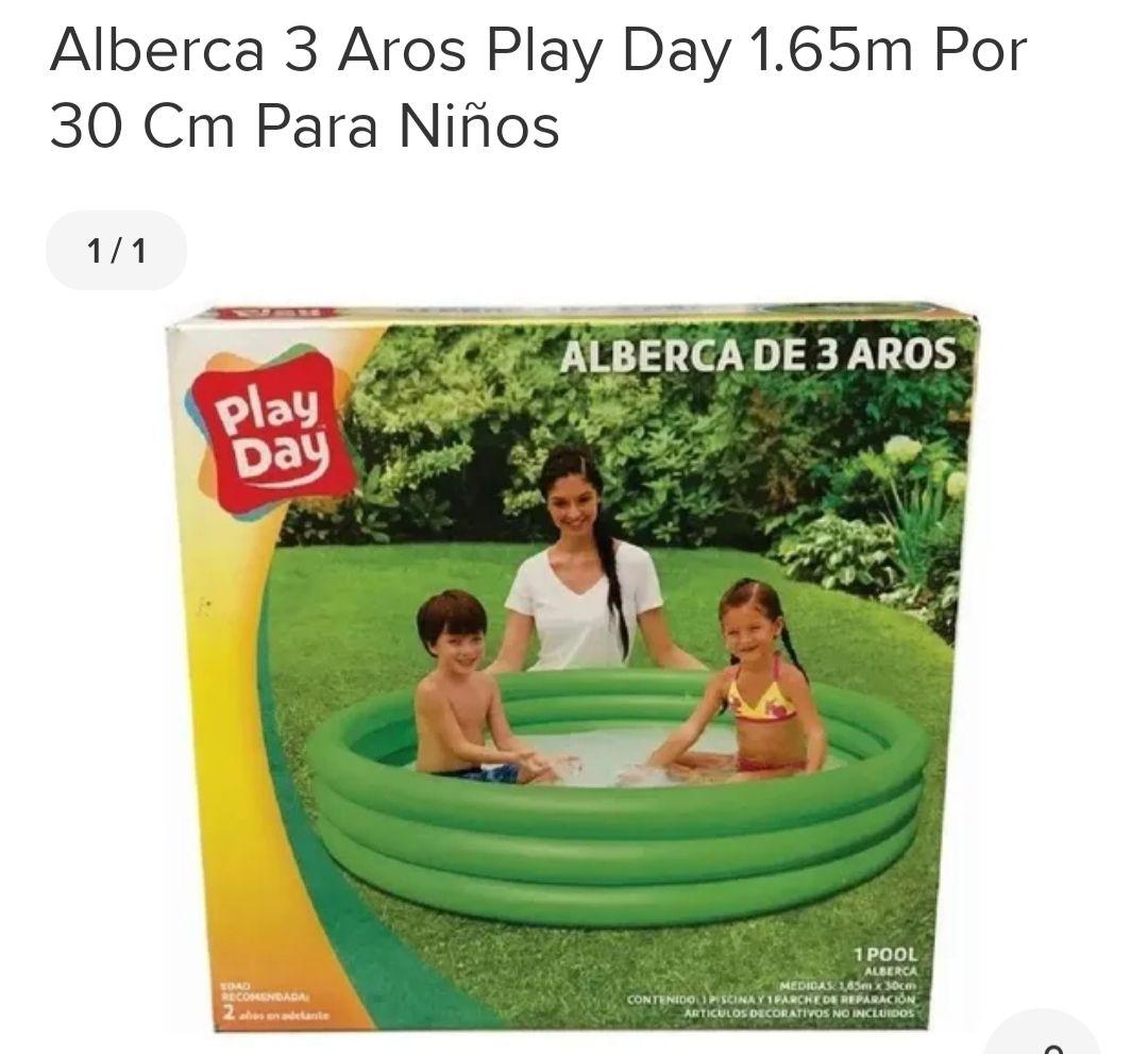Bodega aurrera piscina de 3 aros 1. 65 x 30 (viene amplia foto cn agua en descripción)