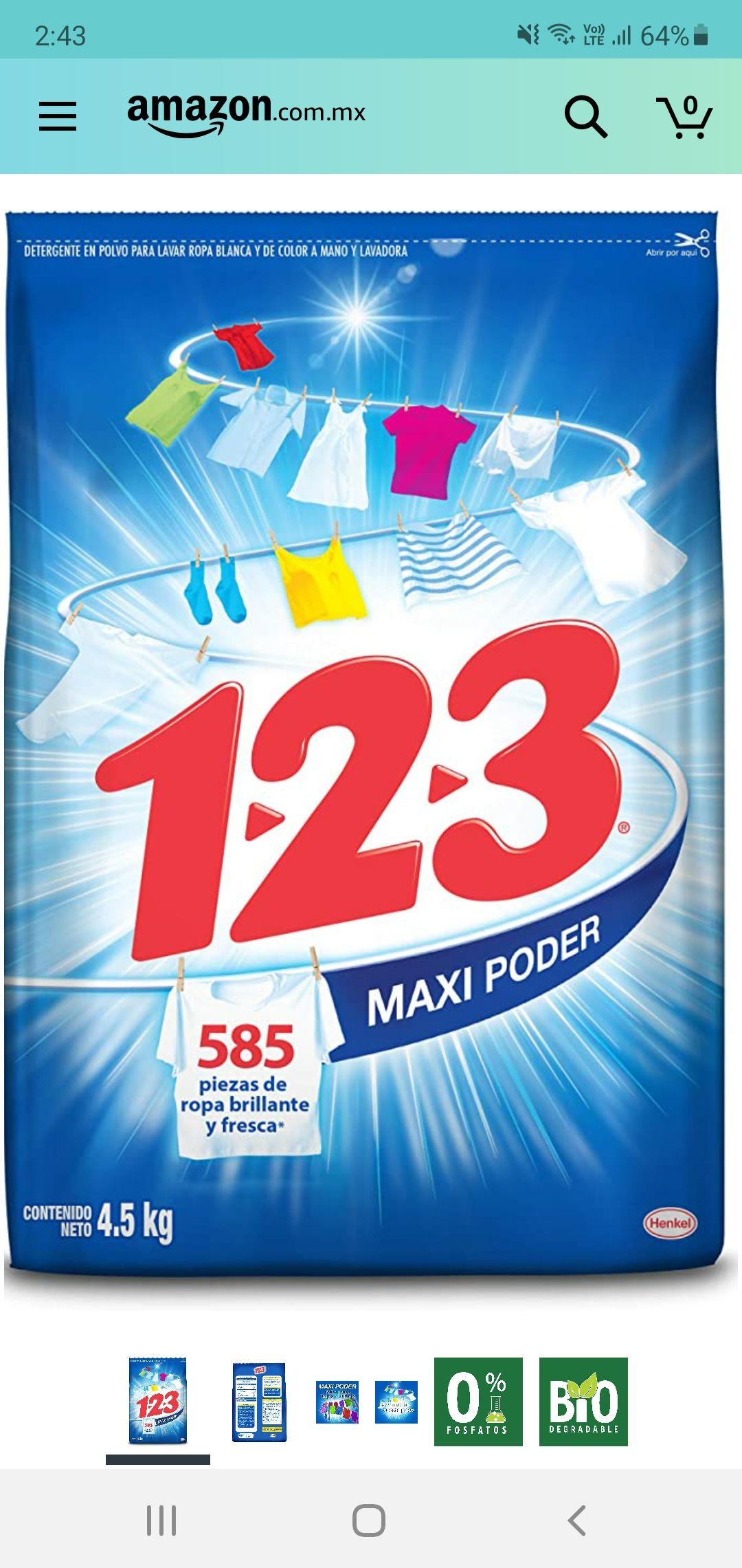 Amazon 123 maxi poder 4.5kg ( con planea y ahorra )