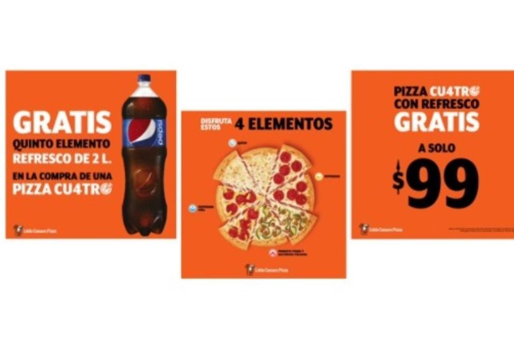 REFRESCO GRATIS en la compra de Pizza CUATRO