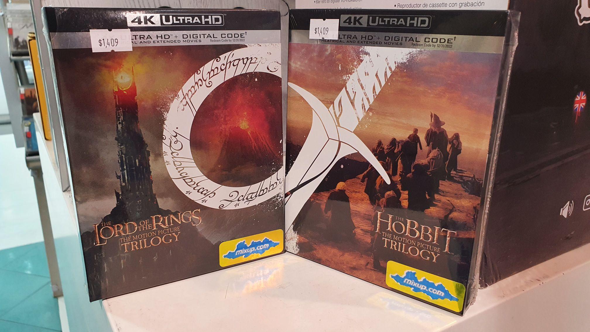 Mixup: Trilogia el Señor de los anillos y el Hobbit en 4k C/U