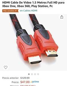 Amazon: Cable HDMI 1.5m