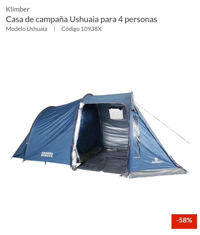 Sodimac: Casa de Campaña para 4 personas