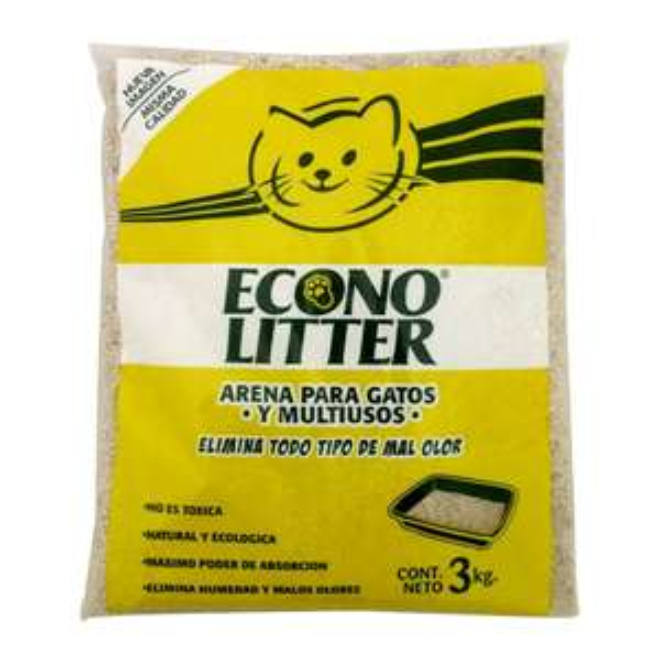 WALMART Arena para Gato Econo Litter 3 kg