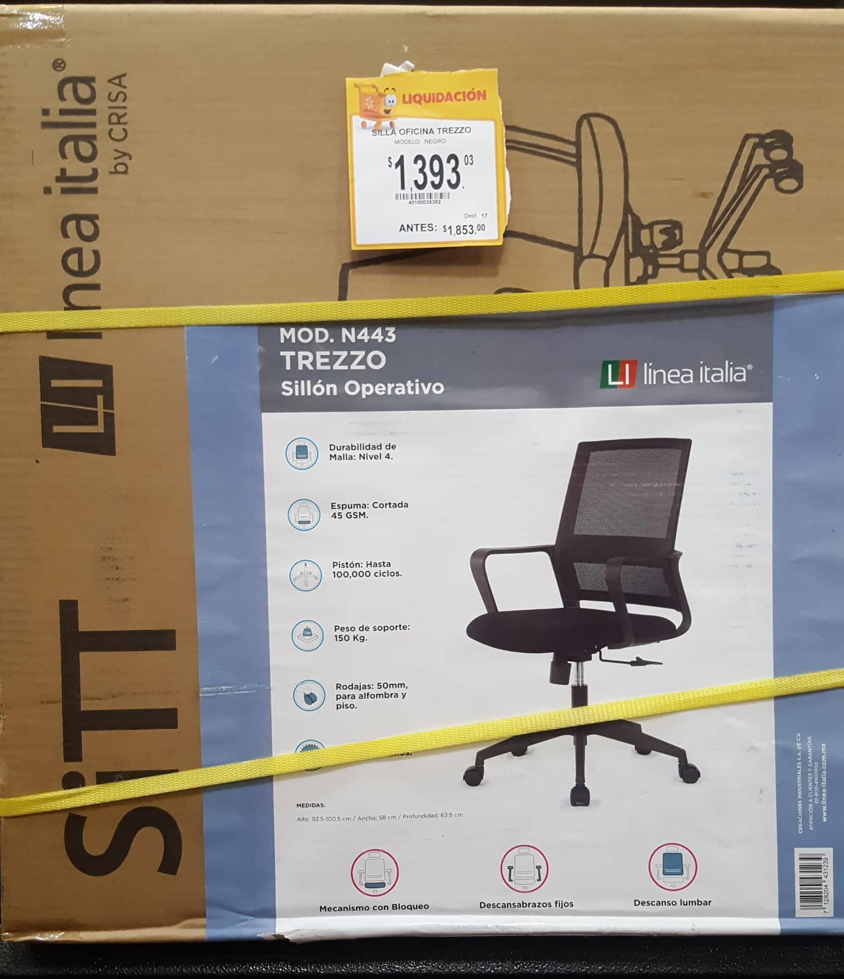 Walmart: Silla de Oficina $328.01