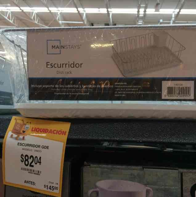 Walmart Comalcalco: Escurridor Mainstays a $82.04