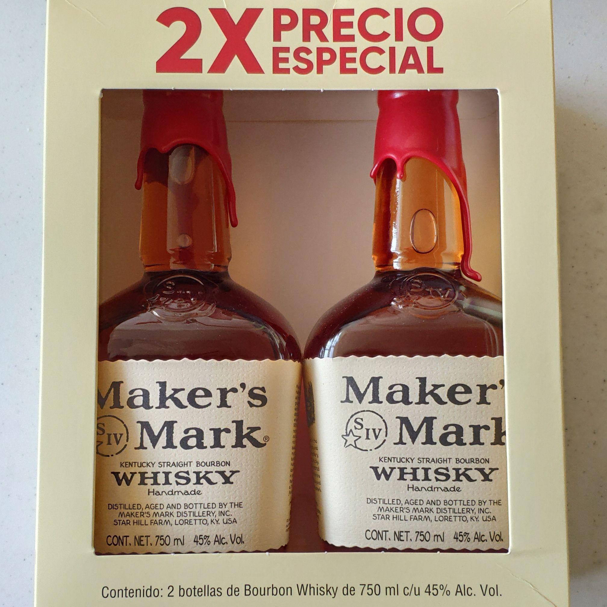Walmart: Maker's Mark Whisky 2X precio especial