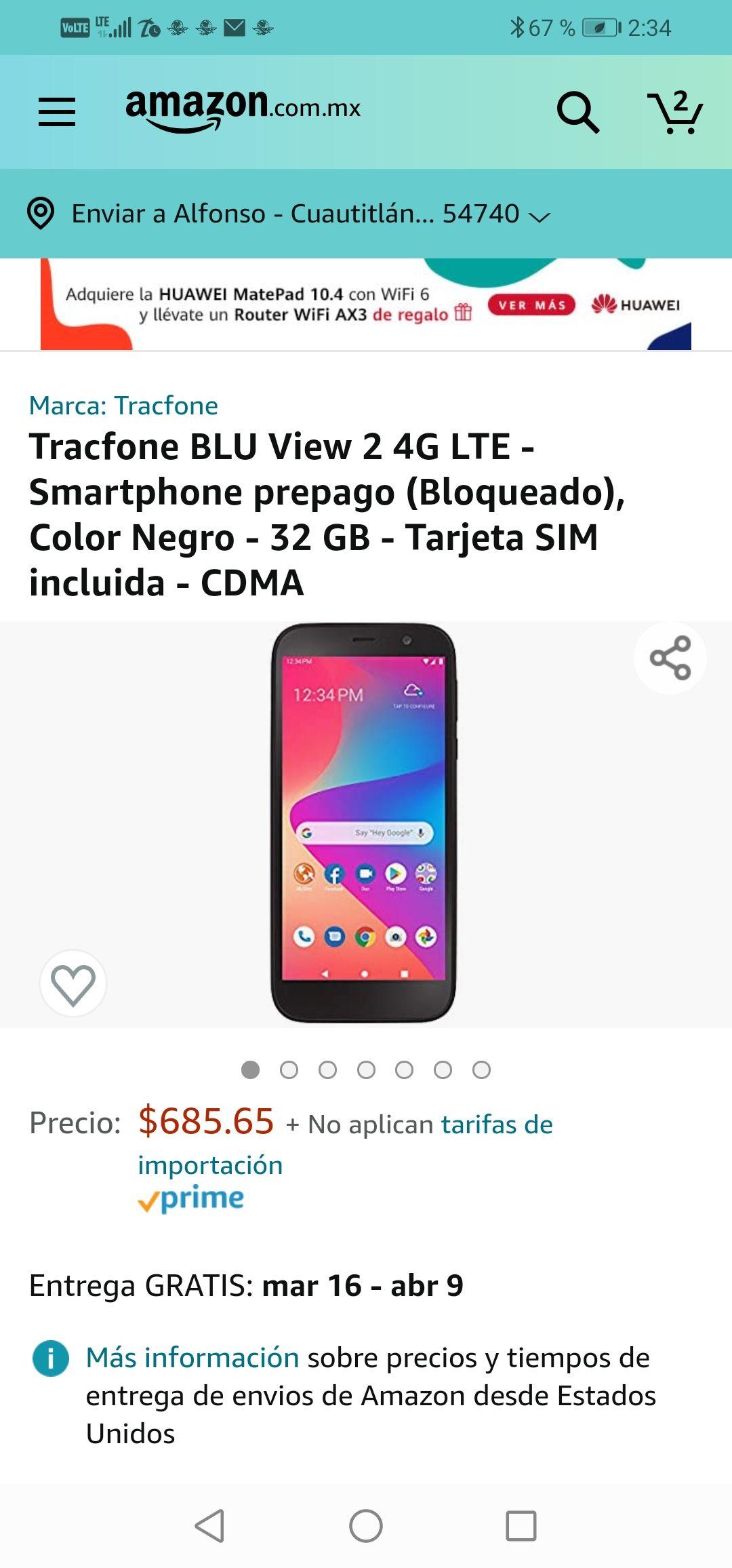 Amazon: Tracfone bloqueado