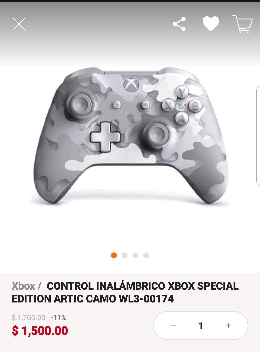 Linio: Control Xbox Artic Camo pagando con PayPal