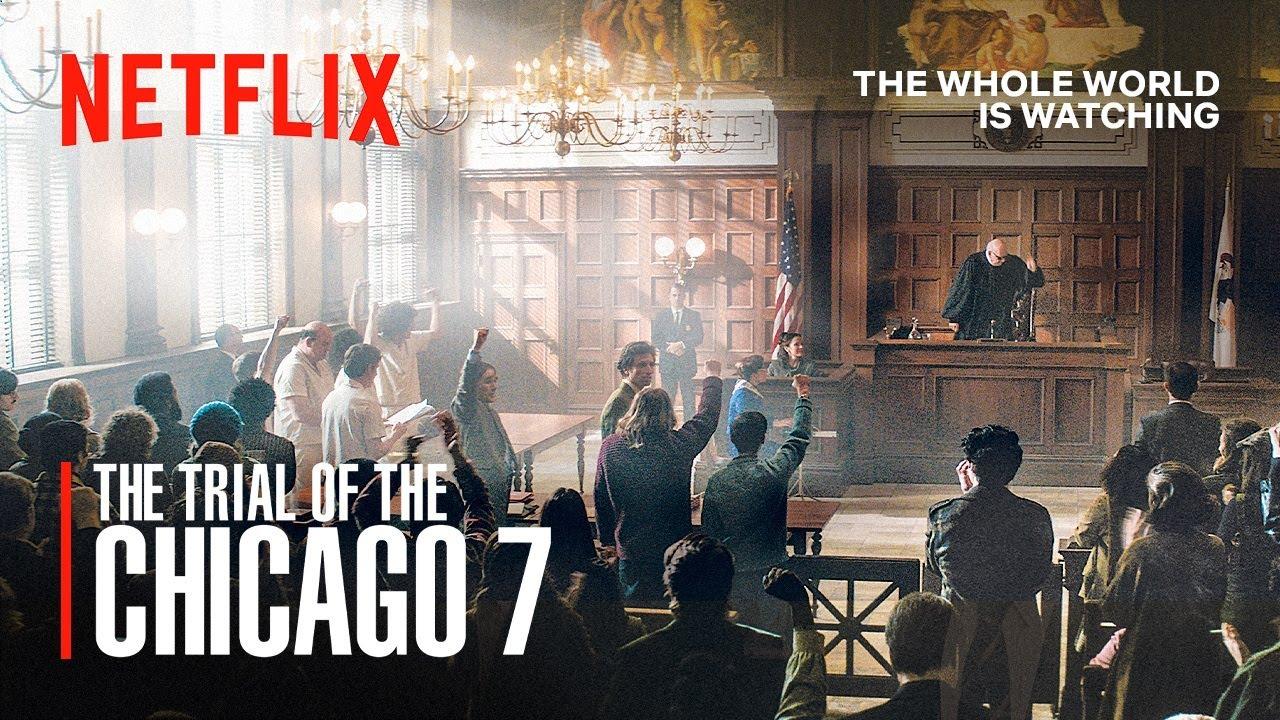 """YouTube: ¡GRATIS! Película de Netflix """"El juicio de los 7 de Chicago"""" del director Aaron Sorkin."""